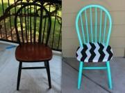 Как покрасить деревянный стул?