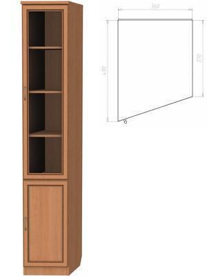 Шкаф для книг (консоль левая)