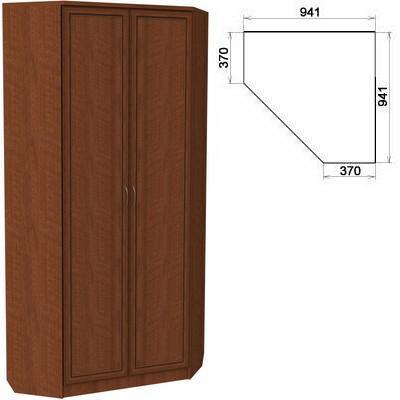 Шкаф угловой со штангой и полками
