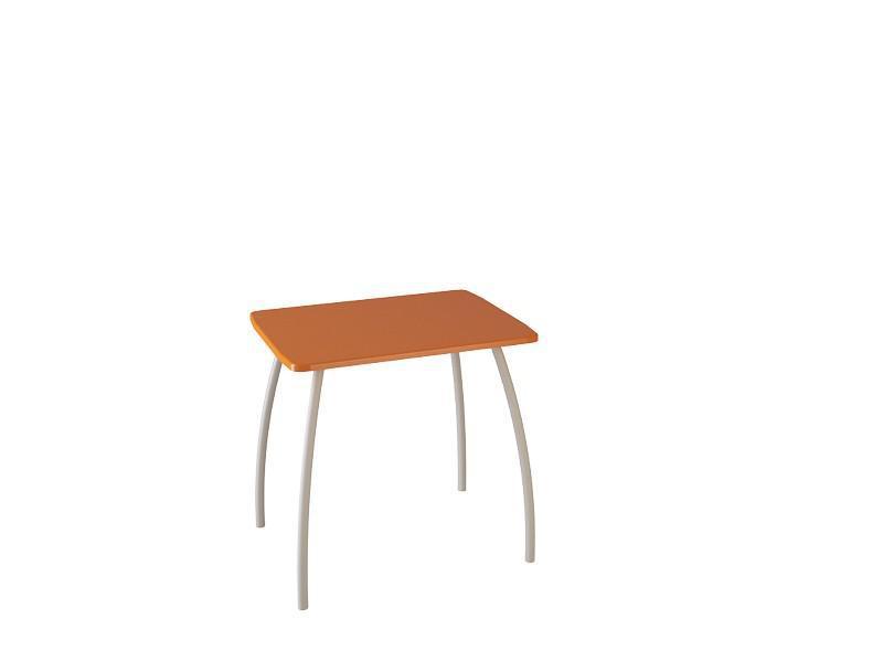 Cтол кухонный малый (оранжевый). (Столешница МДФ)