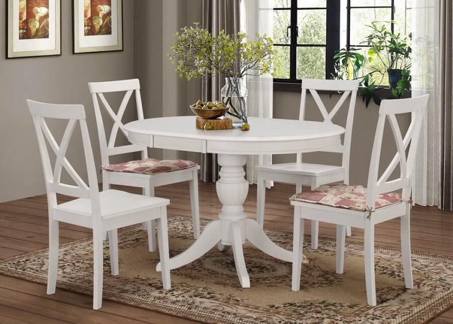 Стол белый обеденный раздвижной «Беатриче нью»