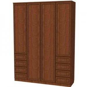 Шкаф для белья со штангой, полками и ящиками