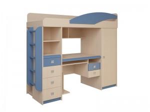 Набор мебели 4.1.1 Л,П (дуб белфорд/синий/оранжевый эвкалипт) + Лестница