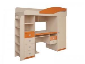Набор мебели 4.1.1 Л,П (дуб белфорд/синий/оранжевый эвкалипт) + Лестница №2