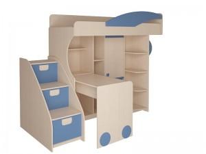 Набор мебели 4.4.1 Л,П (синий, эвкалипт, оранжевый) + Тумба с откидными крышками