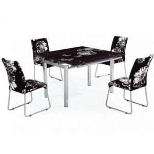 Стол обеденный стеклянный TB017-8