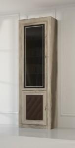 Шкаф-витрина для книг 2-х дверный 204М  (МК 51)