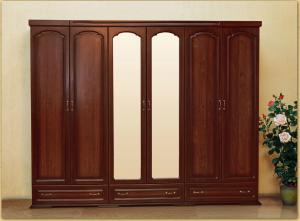 шкаф 6-ти дверный для платья и белья № 1