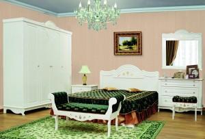 Спальня Лилия МДФ-5 эмаль белая