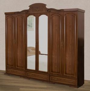 Шкаф 6-ти дверный для платья и белья № 2