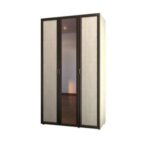 Шкаф 3-х дв. для одежды и белья с зеркалом 6.14