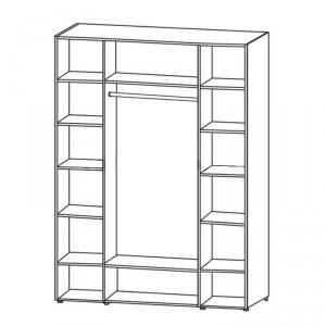 Шкаф 4-х дв. для одежды и белья с зеркалом 6.17
